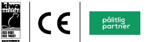 Sepalle myönnetyt sertifikaatit ja CE-merkki
